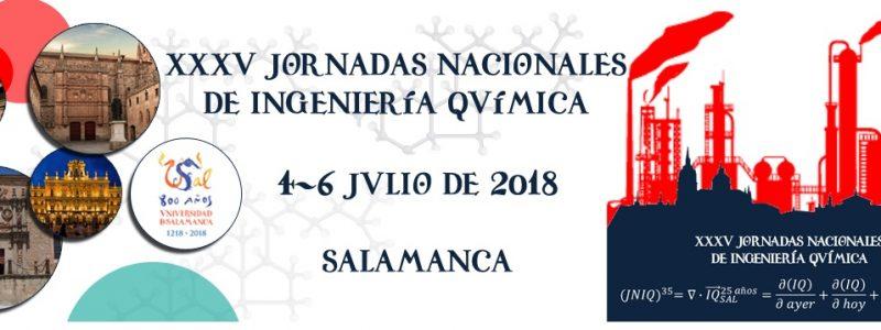 XXXV Jornadas Nacionales de Ingeniería Química – Universidad de Salamanca