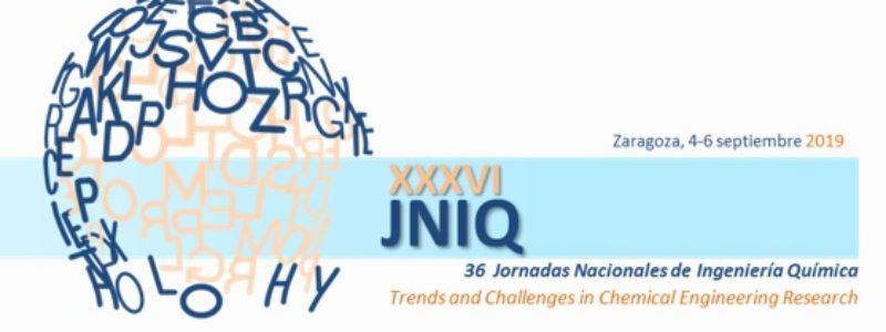 Programa de Becas para la asistencia a las XXXVI Jornadas Nacionales de Ingeniería Química  (Zaragoza 2019)
